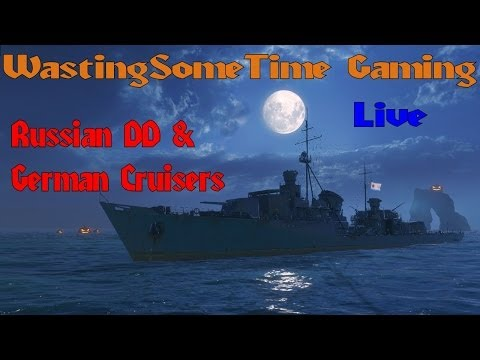 World of Warships Live Stream: Starting the new German and Russian ship lines