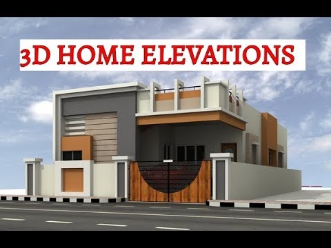 3d home elevations youtube for Small house elevation models