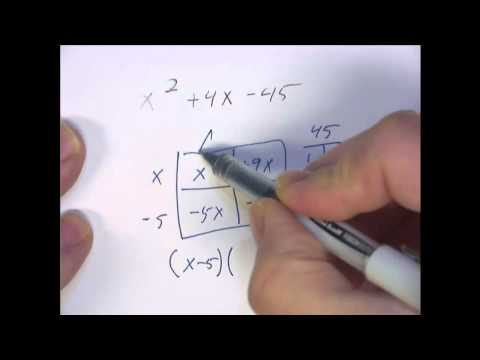 Factoring By The Box Method Example 4