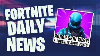 Fortnite Daily News *HONOR* GUARD SKIN WILL BE UPDATED & ADRENALIN KONZEPT (2 April 2019)