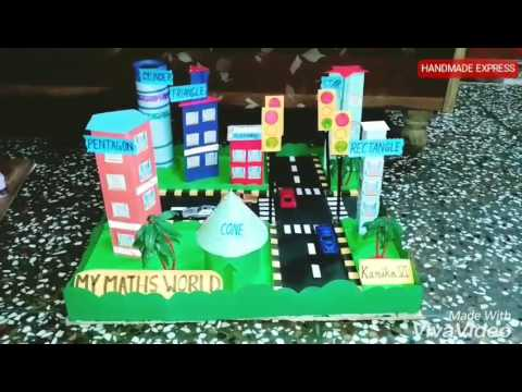 MY MATHS WORLD MODEL | MATHS SMART CITY | MY MATHS IMAGINATION CITY | class 6 school model project