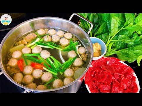 LẨU BÒ VIÊN với cách nấu nước dùng thơm ngon chuẩn vị   Bếp Của Vợ