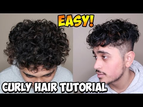 HOW TO GET NATURAL CURLY HAIR IN 5 MINUTES! BEST TIPS/TRICKS FOR MEN AND WOMEN (Curly Hair Tutorial)