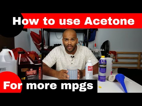 What TO DO when using acetone in your gas tank