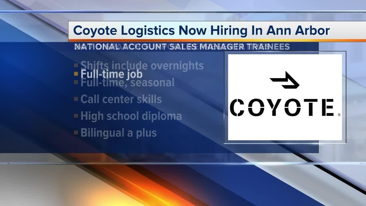 Coyote Logistics is hiring in Ann Arbor