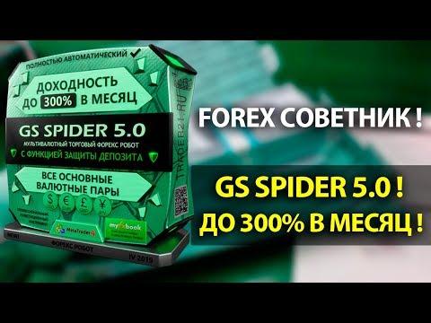 Форекс советник GS Spider 5.0! Новое для максимальной прибыли!