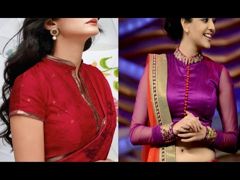 ab47d41363bfdd Latest Collared Neck Blouse Designs For Sarees And Lehengas, Saree Blouse -  YouTube