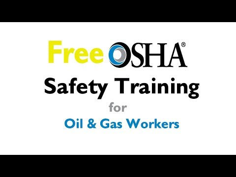 Free Certificate Training for Oil and Gas Workers