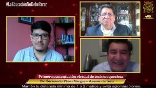 Tema: Sanmarquino sustenta tesis virtual en quechua
