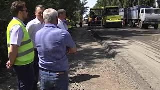 На Дніпропетровщині продовжується капремонт траси Павлоград-Донецьк