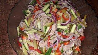 """Салат """"Провансаль"""" /простой салат с говядиной"""