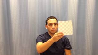 Visual/eye tracking exercise for dizziness part 1 2015