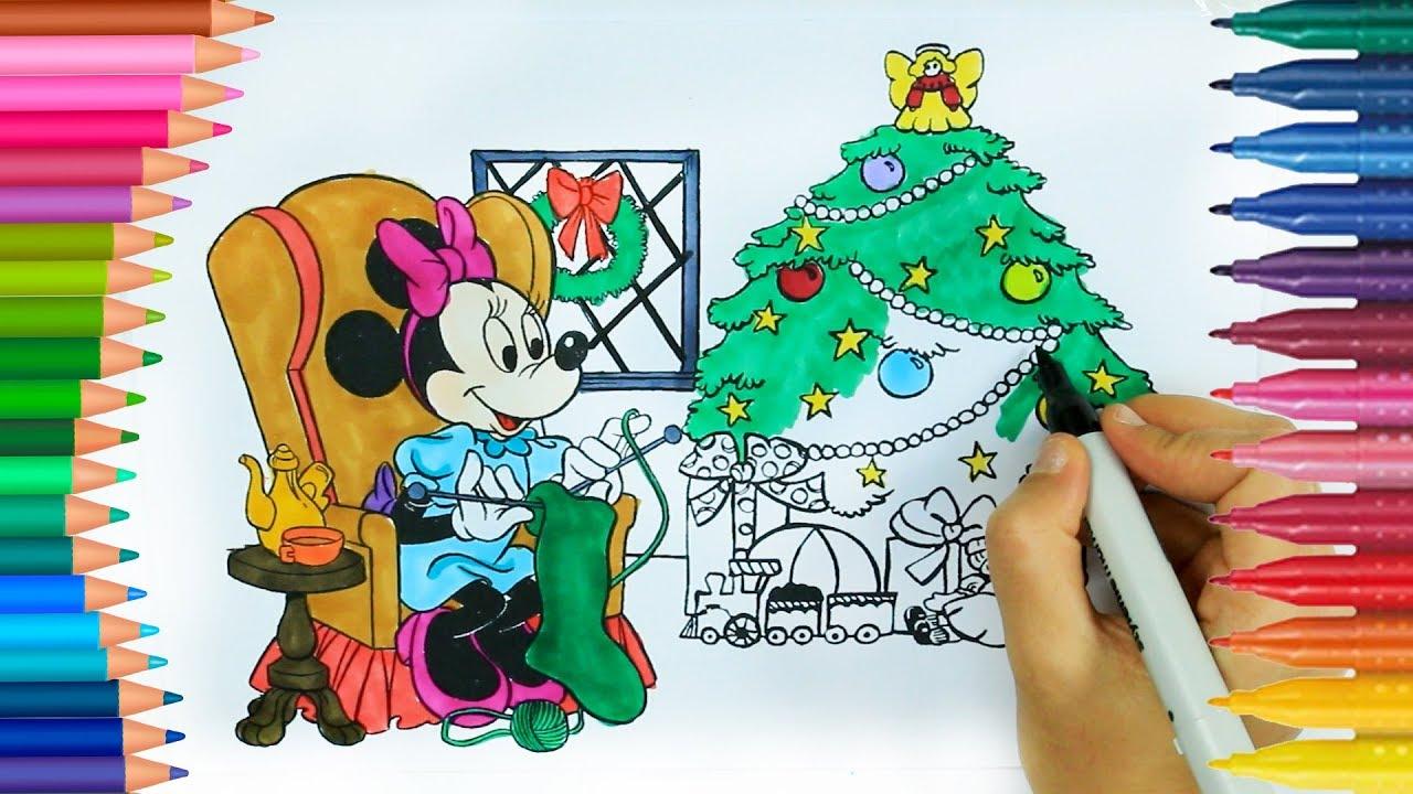 Minnie Mouse Boyama Kitabı Boyama Videoları Renkleri