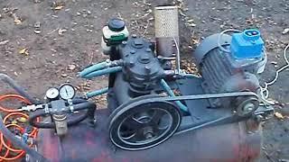 Компрессор самодельный ЗиЛ 130 Homemade air compressor