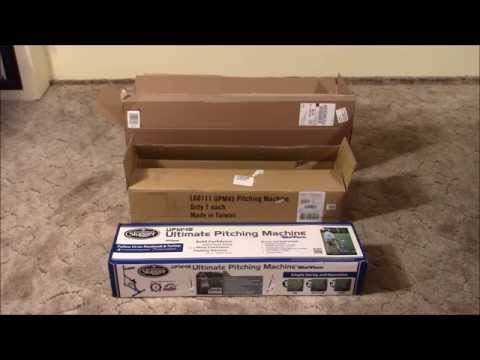 Louisville Slugger UPM 45 Blue Flame Pitching Machine Assembly and Use