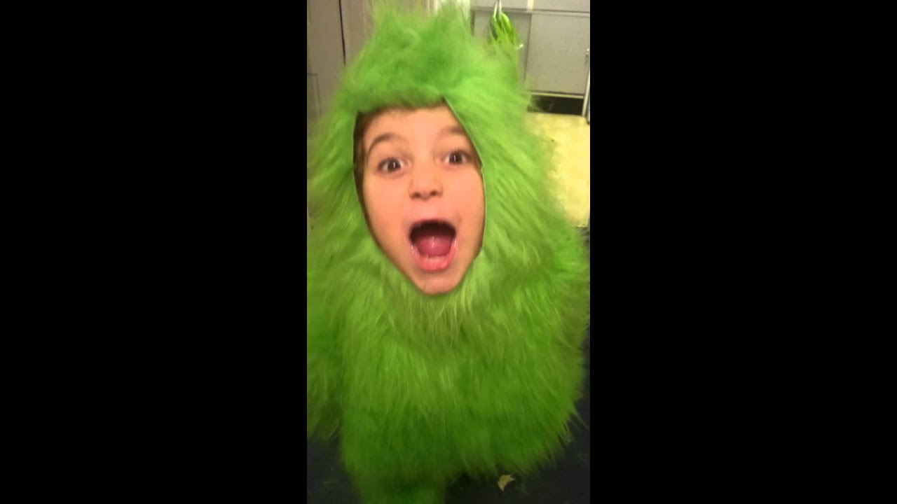 Child size grinch fur suit I created for school  sc 1 st  YouTube & Child size grinch fur suit I created for school - YouTube