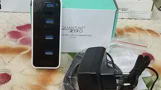 QuantumZero External Powered USB 3 0 Hub 4 Ports 24W Feature and Quick Review