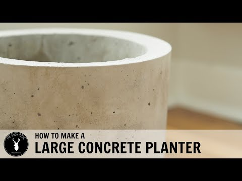 How to Make a Large Concrete Planter