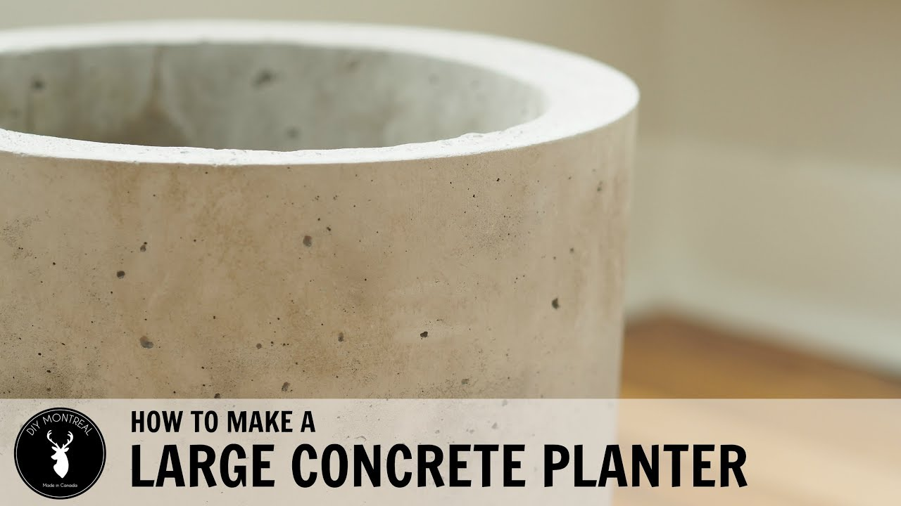 How To Make A Large Concrete Planter Youtube