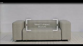 DORM collection by CALMA. Design: Serra&delaRocha | Modular Sofa