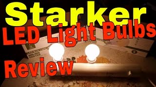 Starker LightenPro LED Bulbs test review 6 Watts and 8 Watts LED bulbs