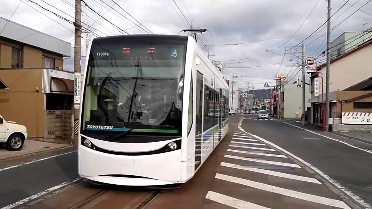 豊橋鉄道T1000形電車。豊橋路面...