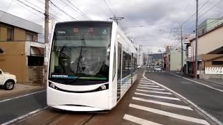 豊橋鉄道T1000形電車。豊橋路面電車「ほっトラム」。豊橋鉄道東田本線。駅前停留場から赤岩口停留場までです。パート2。