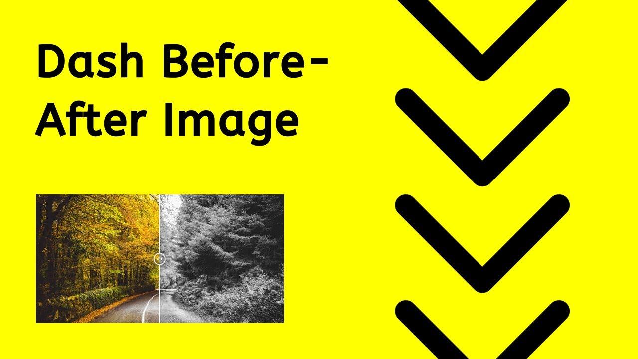 Before After Image Slider - Dash Component
