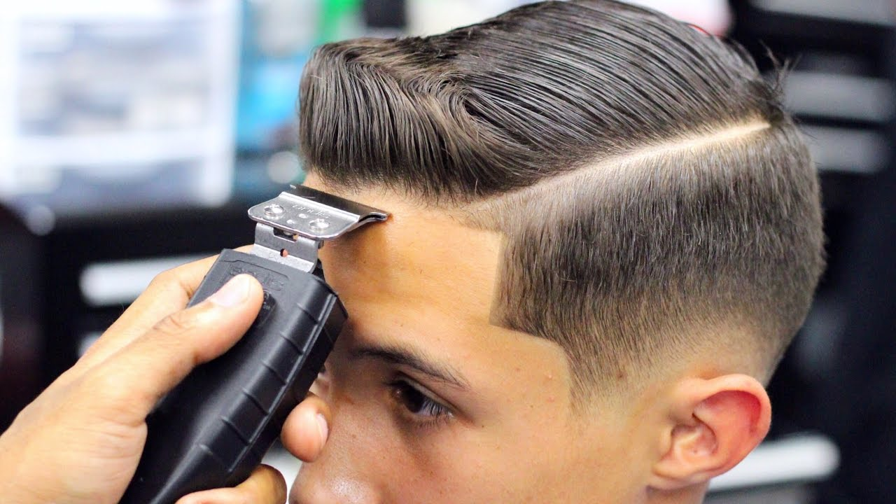 Haircut Tutorial Combover Drop Fade Blow Dried And Style Youtube