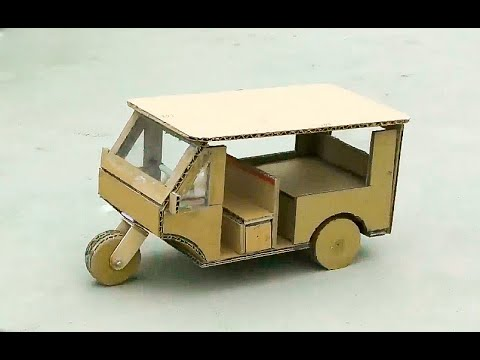 How to Make a RC Tricycle (TukTuk) from CardBoard
