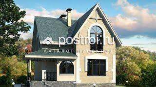 Строительство дома из газосиликатных  блоков Проект № L-115-1P