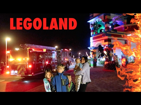 🌇💥LEGOLAND HOTEL Scary Emergency Fire Evacuation! LEGOLAND HOTEL & RESTAURANT TOUR!