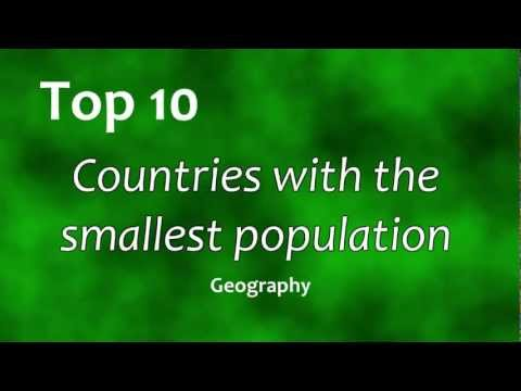 Top 10: Countries with the smallest population