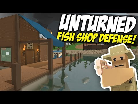 DEFEND THE FISH SHOP - Unturned Store RP
