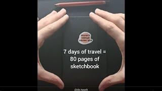 ОГЛЯД СКЕТЧБУКУ | Travel Sketchbook Tour