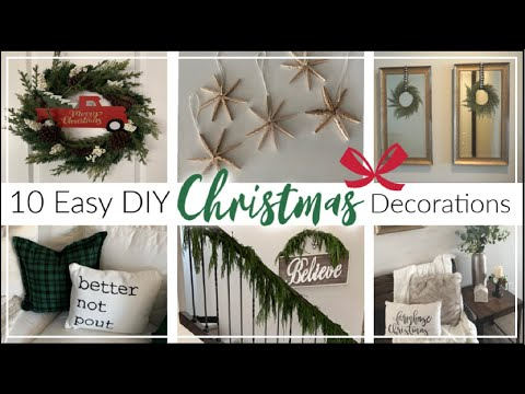 10 EASY DIY CHRISTMAS Decorations | Christmas Decorating Tips + Tricks | Momma From Scratch