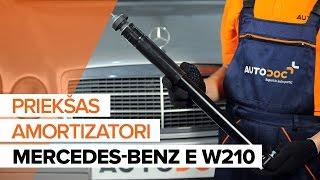 MERCEDES-BENZ Amortizators demontāža - video pamācības