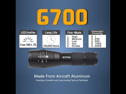 Lumitact G700 Military Grade Led Flashlight