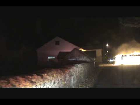 West Hazleton Fire Dept E-241 1st in on Hazle Twp Structure Fire