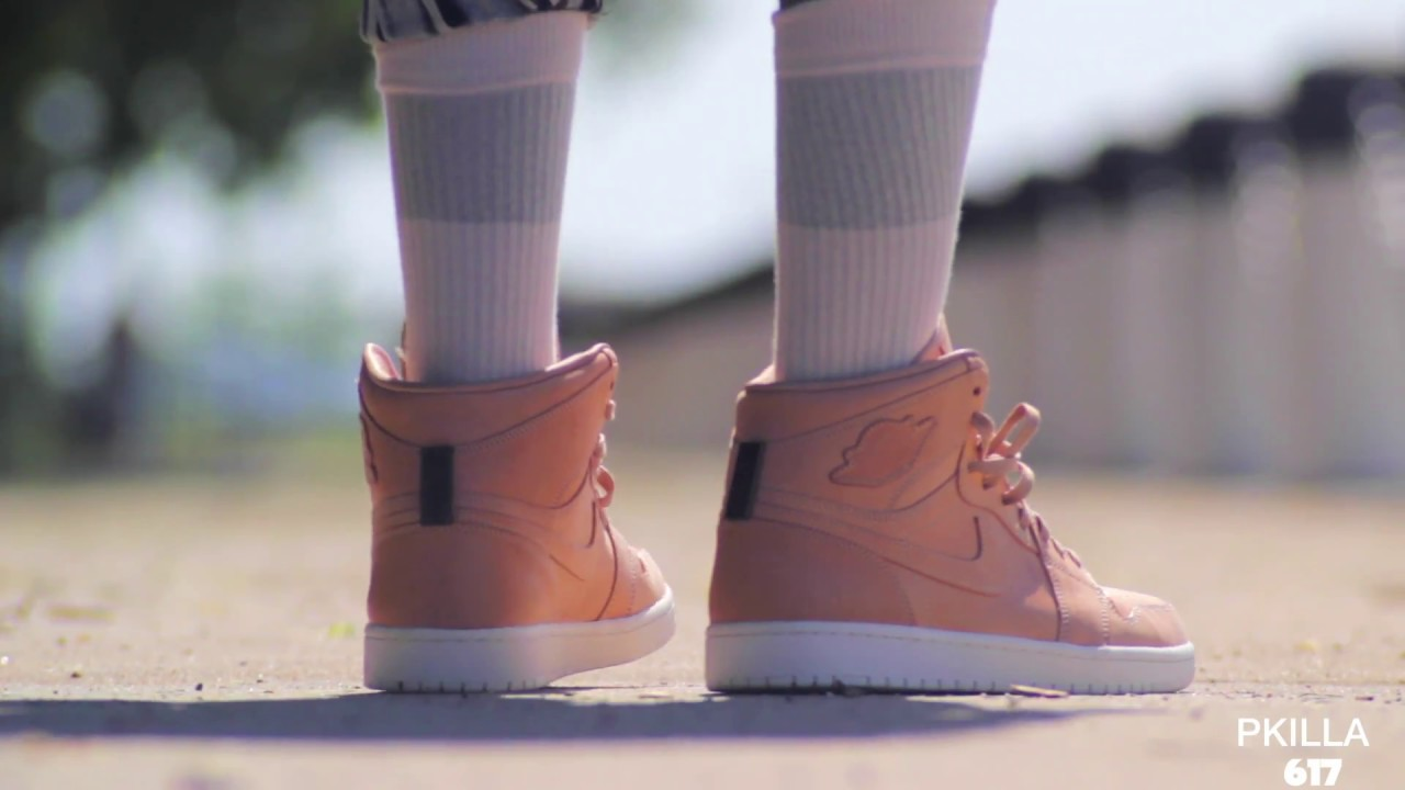 sports shoes b35eb 9d989 Air Jordan 1 Pinnacle  Vachetta Tan ON FEET