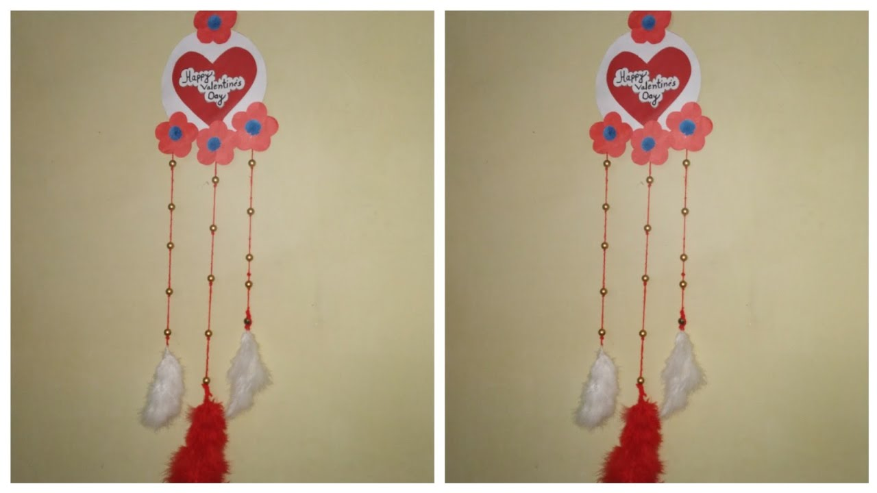 Valentine Room Decoration Ideas Wall Hanging Valentines Decoration Ideas Anniversary Room Decoration Youtube