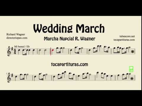 Wedding March Wagner Sheet Music For Alto Saxophone Baritone Sax And French Horn