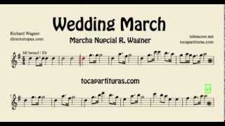 Wedding March Wagner Sheet Music for Alto Saxophone, Baritone Sax and French horn