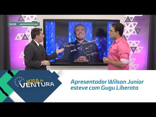 """Apresentador Wilson Junior esteve com Gugu Liberato no """"Canta Comigo"""" - Bloco 01"""