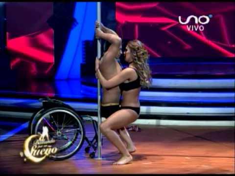 VIDEO: Bailando por un Sueño Bolivia: Sandra Alcázar y Rubén Jara bailan Caño Doble