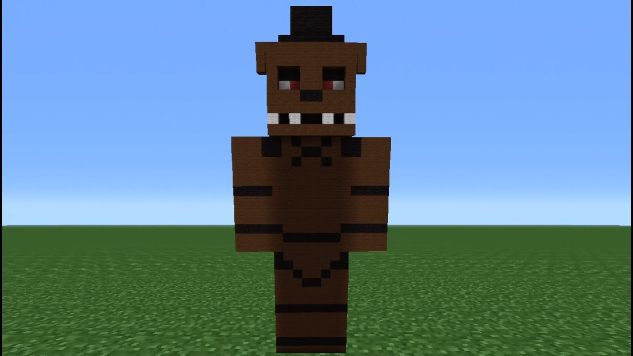 Minecraft tutorial how to make a freddy statue five nights at freddy