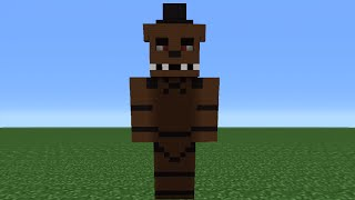 Minecraft Tutorial: How To Make A Freddy Statue (Five nights at Freddy