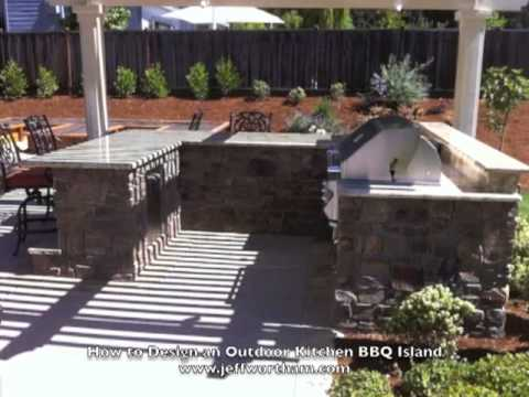 How To Design An Outdoor Kitchen Bbq Island Youtube