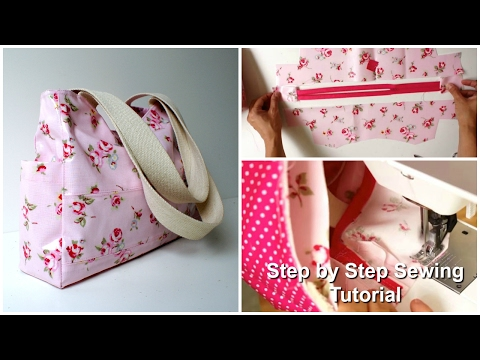 How to sew a Tote / Carry All Bag  - Step by Step Tutorial (Out & About Pattern)