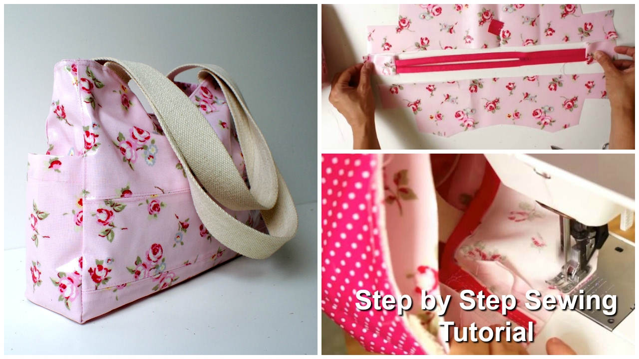 How To Sew A Tote Carry All Bag Step By Tutorial Out About Pattern